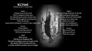 Wilted - LYRICS - (c) Lyn V. Conary