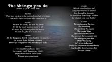 The Things You Do - LYRICS - (c) Lyn V. Conary