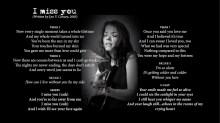 I Miss You - LYRICS - (c) Lyn V. Conary
