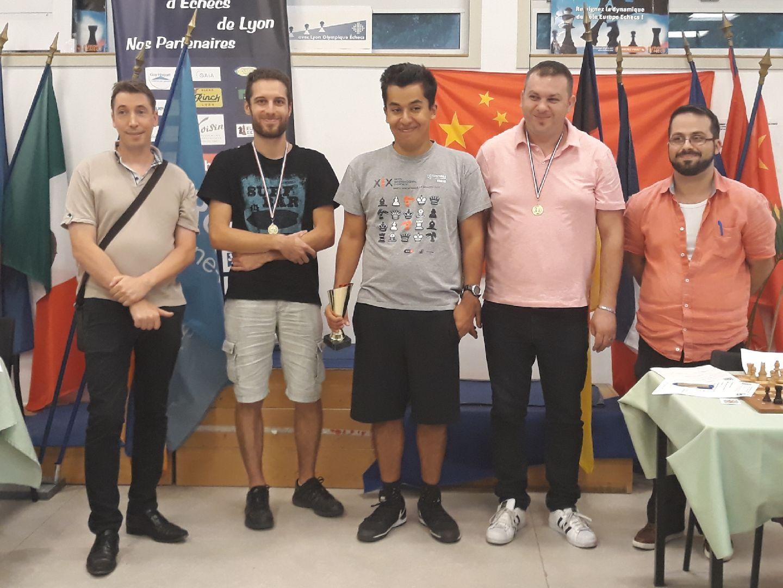 Festival des Rondes Lyonnaises : Alexis TAHAY, Maitre FIDE gagne le Rapide avec 8 sur 9 ! Place à présent, ce 2 septembre, au Blitz de 14h !