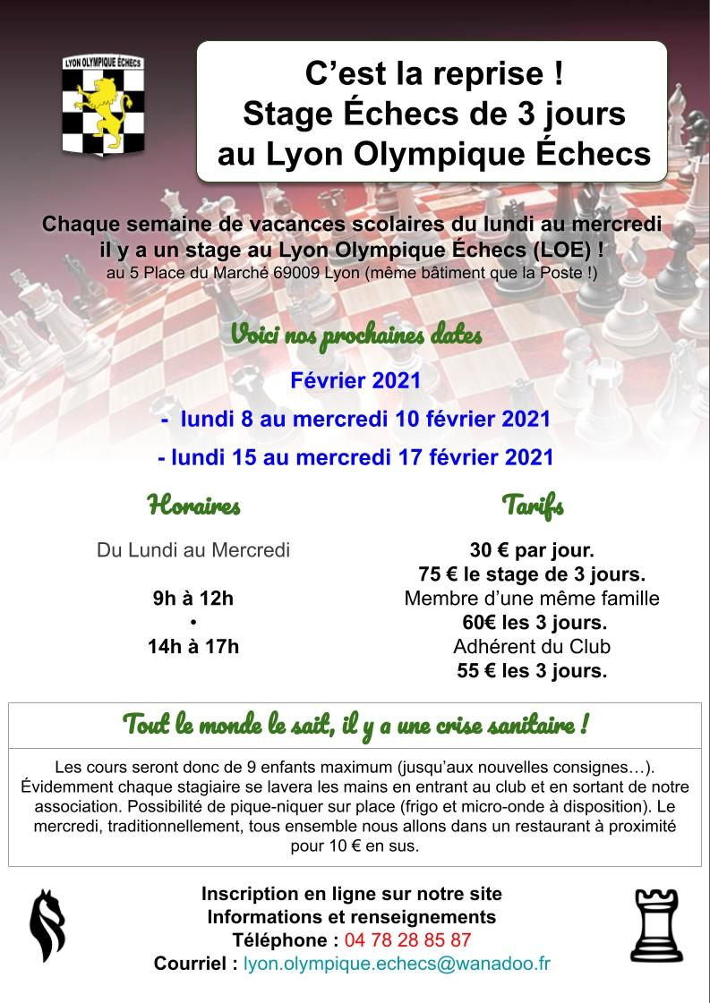 Affiches stages du Lyon Olympique Échecs (3)