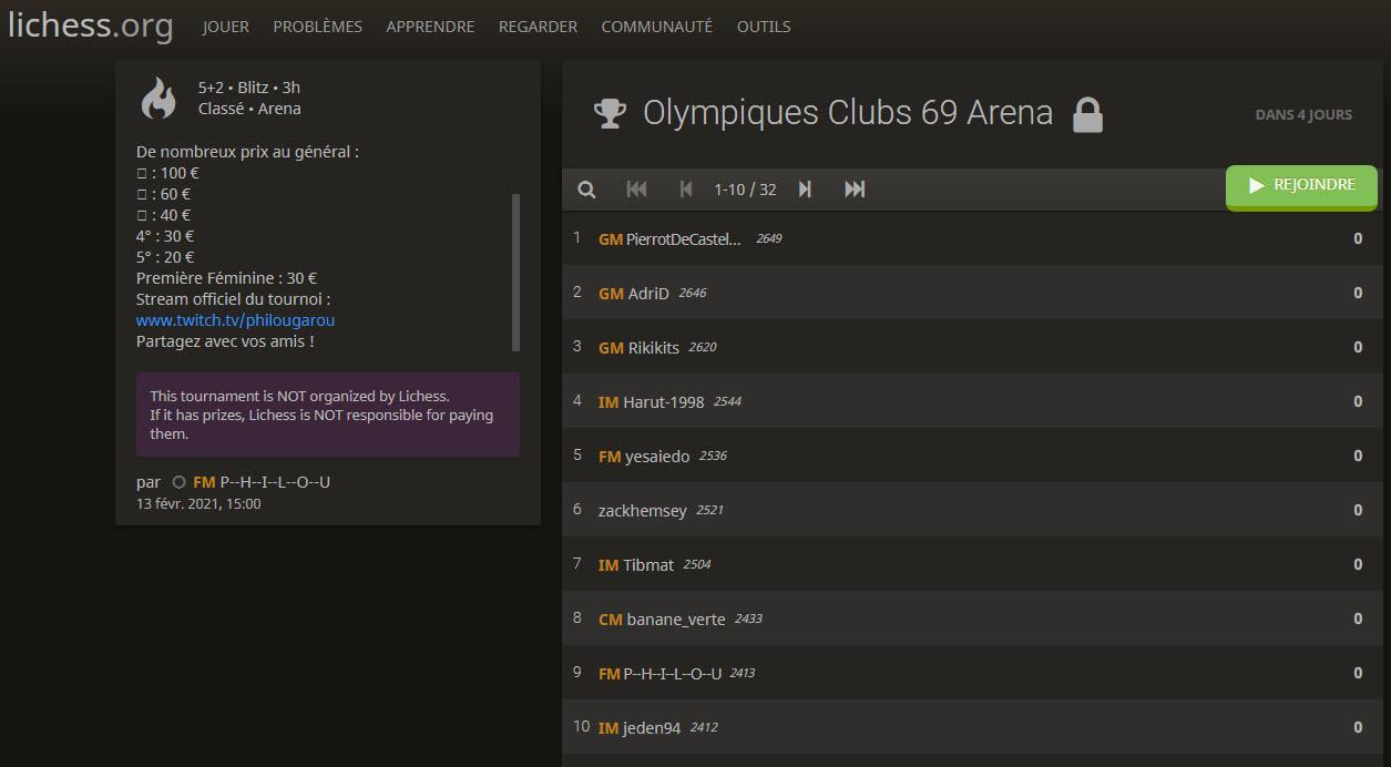 Tounroi lichess olympique 69