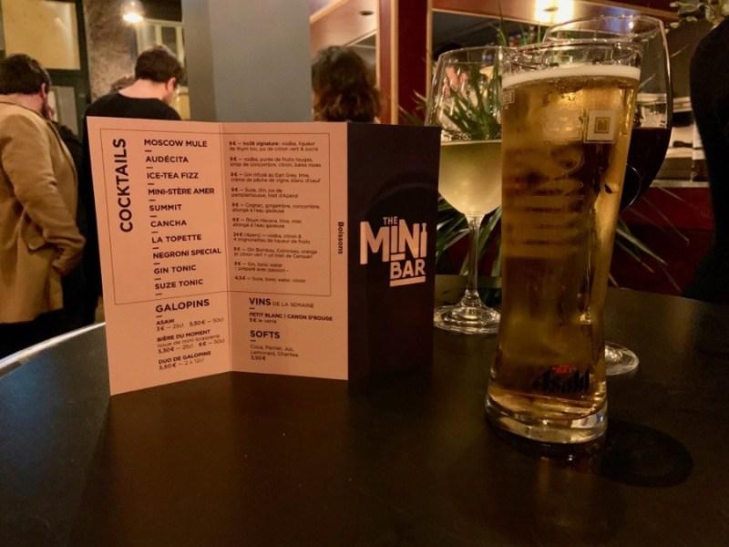 Carte Mini bar Lyon
