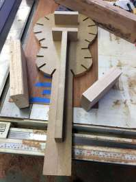 MDF jig for gluing top and back to sides and keeping everything flat and true