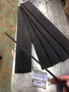 Macassar ebony resawed for fret boards