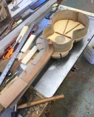 UKU-T-13 Tenor ukulele top braced and glued to body