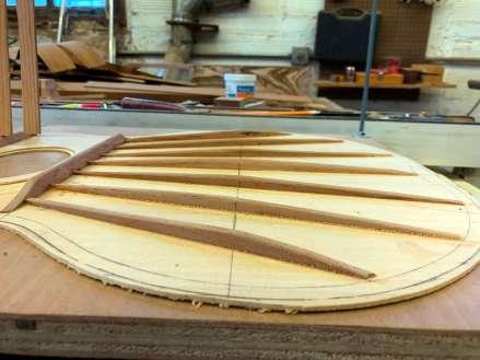 fan brace shaping