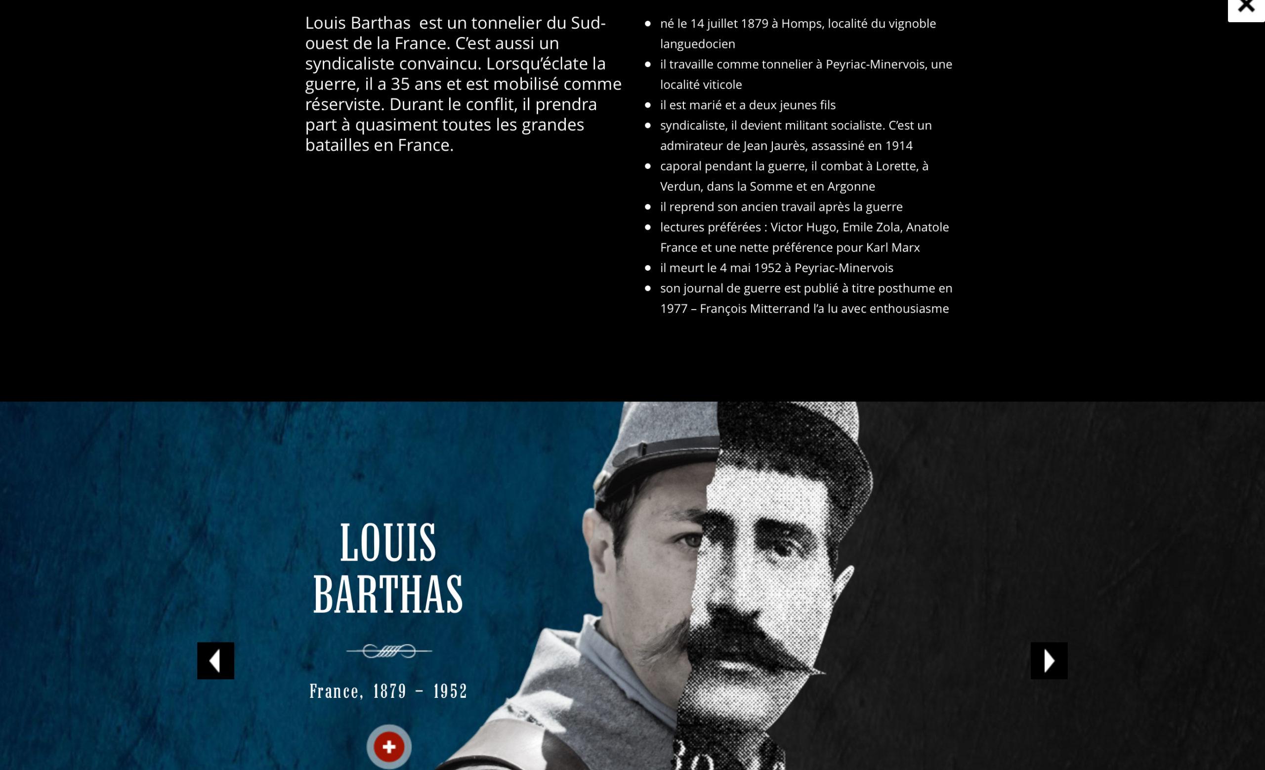 """La présentation de Louis Barthas par des """"Armes et des Mots"""""""