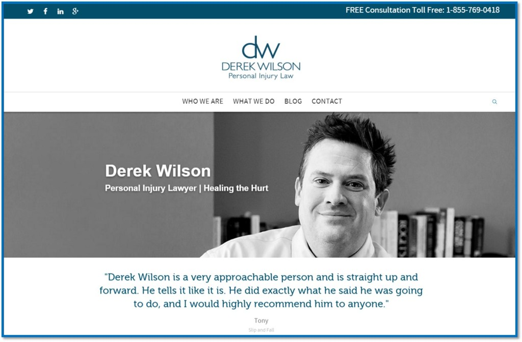 social media for Derek Wilson Personal Injury Law