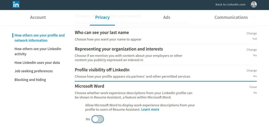 Don't let others copy your LinkedIn profile through MS Office