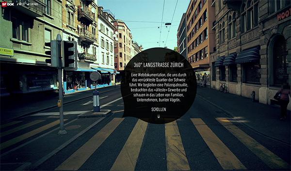 360 Langstrasse in 50 Creative Full Screen Video Background Websites