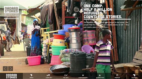 Dadaab Stories in 50 Creative Full Screen Video Background Websites
