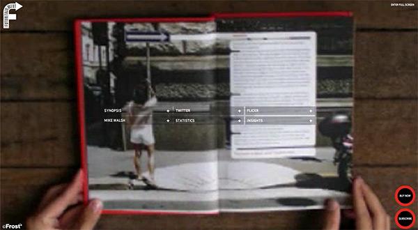 Future Element in 50 Creative Full Screen Video Background Websites