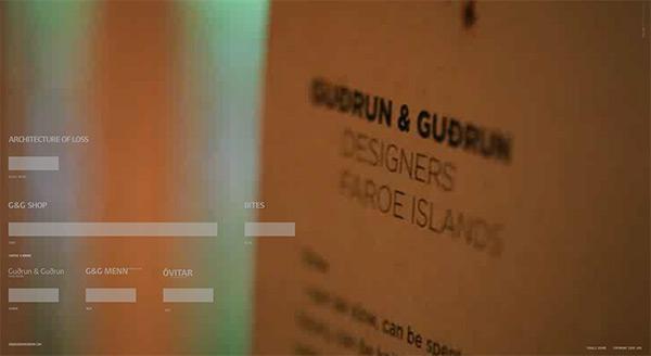 Gudrun og Gudrun in 50 Creative Full Screen Video Background Websites