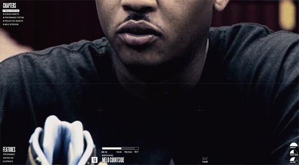 Jordan M6 in 50 Creative Full Screen Video Background Websites