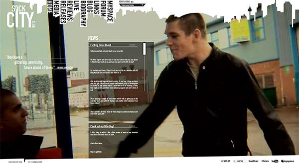 Sick City Club in 50 Creative Full Screen Video Background Websites