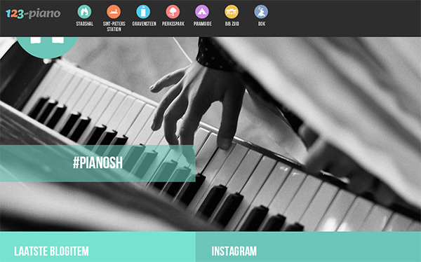 123-piano in 28 Websites with Stunning Flat Design