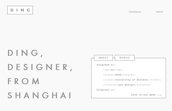 Dingzhou in 45 Modern Minimal Websites