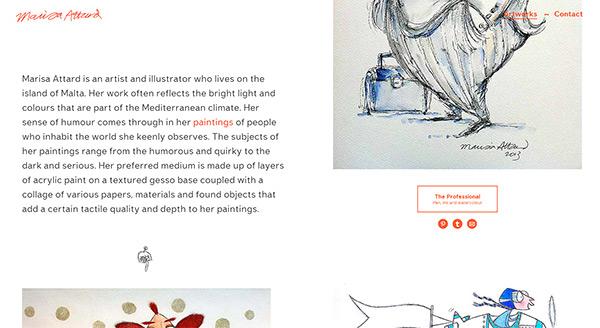 Marisa Attard in 45 Modern Minimal Websites