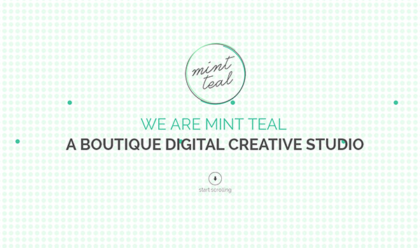 Mint Teal in 45 Modern Minimal Websites