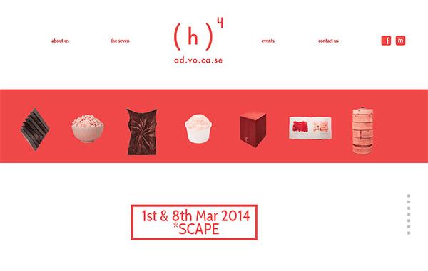 ad.vo.ca.se in 45 Modern Minimal Websites