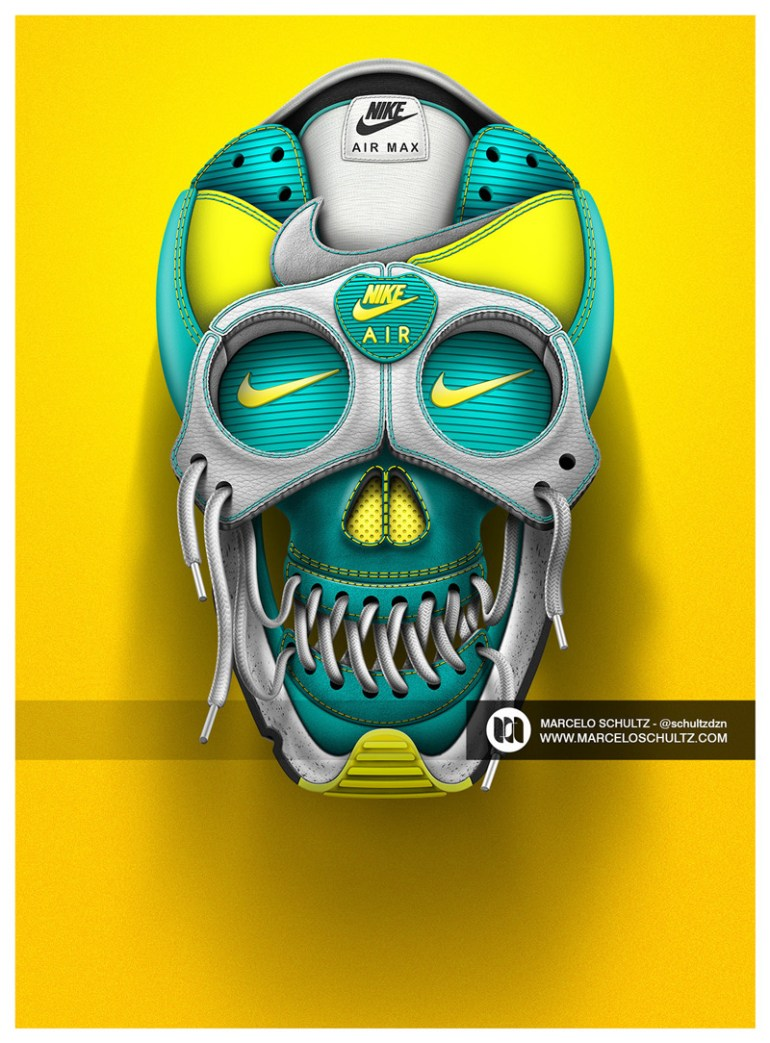 Nike designs by Marcelo Schultz in Showcase of Creative Nike Advertisements