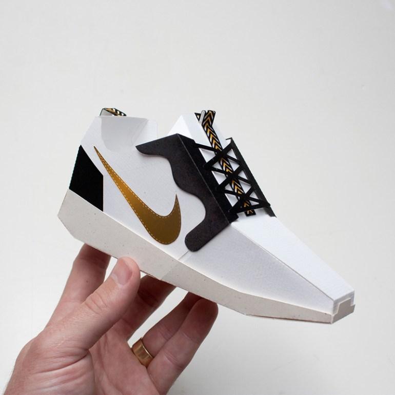 Paper Sneakers by Joe Bowers in Showcase of Creative Nike Advertisements