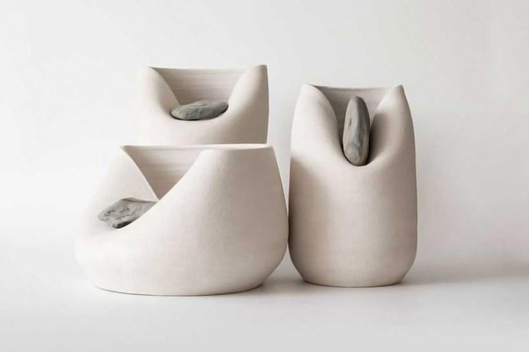 Vase with stone by martín azúa in Showcase of Creative Furniture Designs