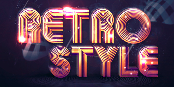 Create Abstract Shining Text Effect with Groovy Font in Photoshop in 40 Creative Photoshop Text Effect Tutorials