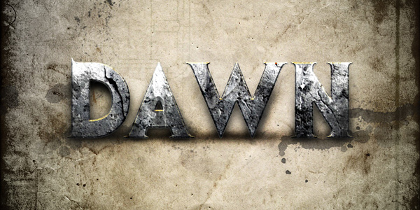 Design a Dawn of War Style Concrete Text Effect in Photoshop in 40 Creative Photoshop Text Effect Tutorials