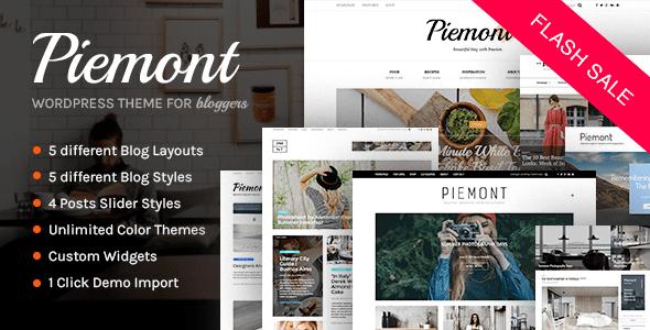 Piemont - Premium Responsive WordPress Blog Theme