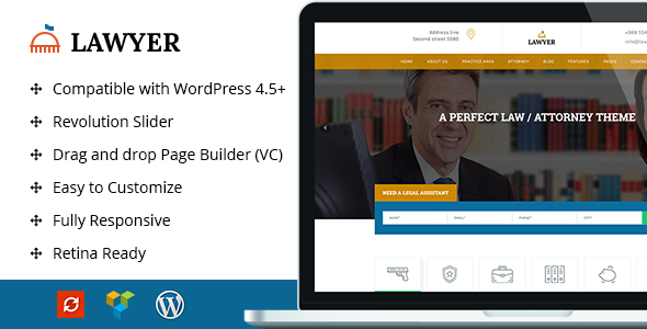 A Lawyer - Lawyer WordPress Theme
