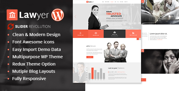 Lawyer Multipurpose WordPress Theme