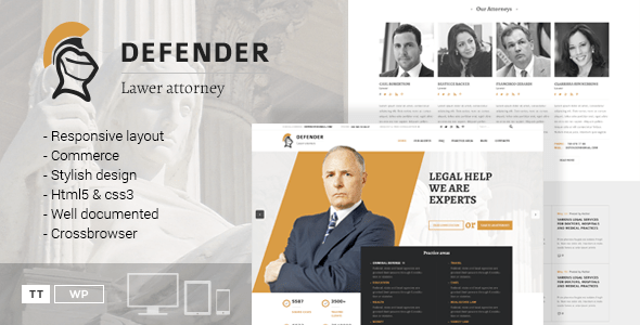 Defender – Attorney & Lawyer WordPress Theme