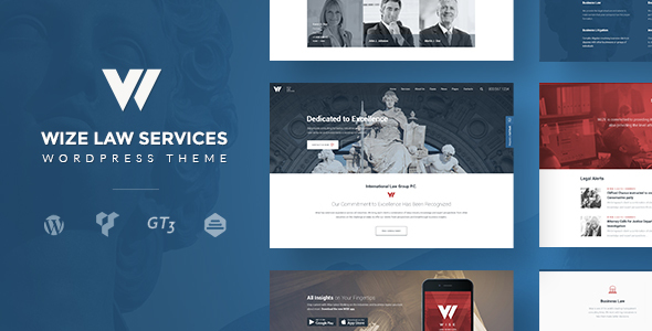 Law Services | Lawyer & Attorney Business WordPress - WizeLaw