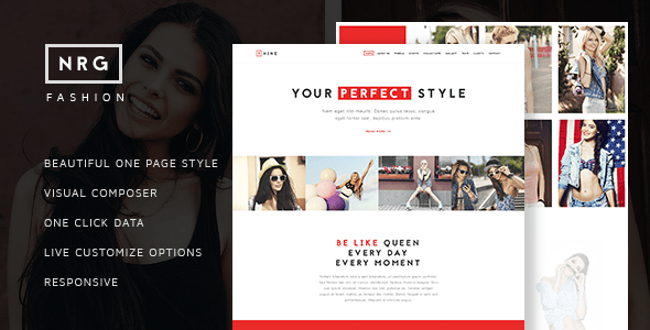NRG Fashion - Model Agency One Page Beauty Theme