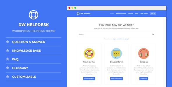 DW Helpdesk - Knowledge Base / Q&A / FAQ WordPress Theme