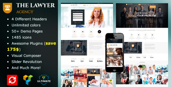 The Lawyer - Lawyers, Attorneys & Law Firms WordPress Theme