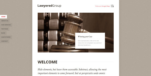 Lawyered Group - Responsive Retina WP One-Page