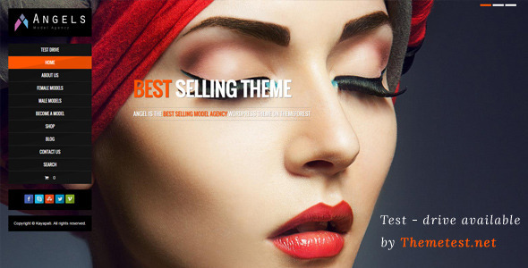 Angel - Fashion Model Agency WordPress CMS Theme