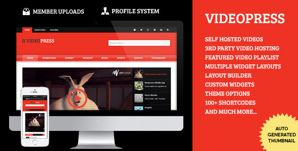 VideoPress - A Self Hosted Video Streaming Theme