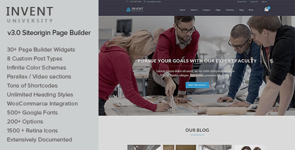 Invent - Education Course College WordPress Theme