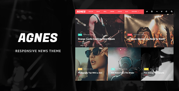 Agnes - Responsive WordPress News Theme