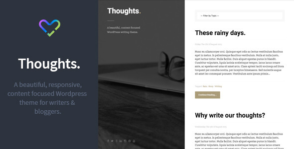 Thoughts – Responsive WordPress Blogging Theme