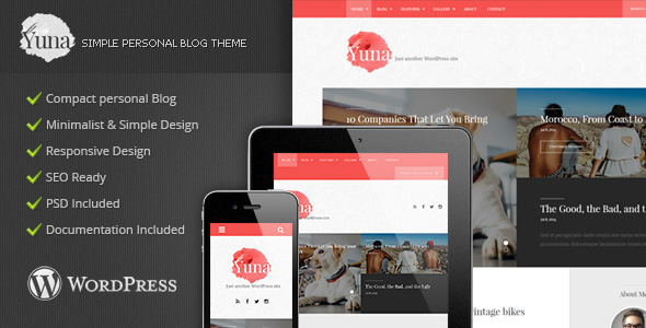 Yuna - Personal Simple Blog Theme