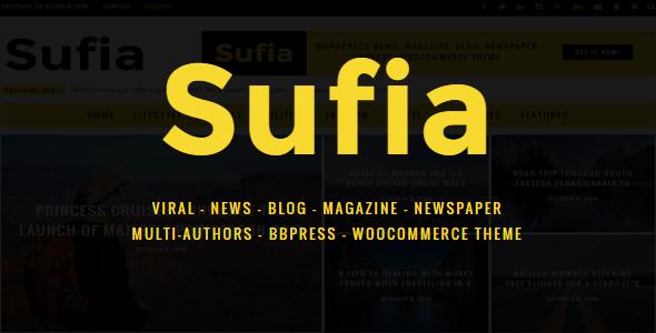 Sufia   News Blog Magazine Newspaper Multipurpose WordPress Theme