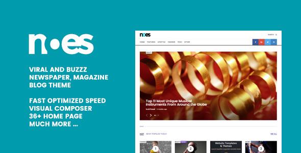 Noes - Buzz & Viral Newspaper, Magazine, Blog WordPress Theme
