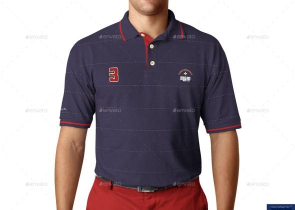 Polo Shirt on Model Mockup