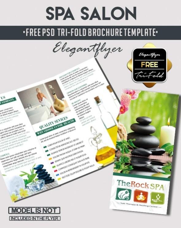 Free PSD Tri-Fold Spa PSD Brochure Template