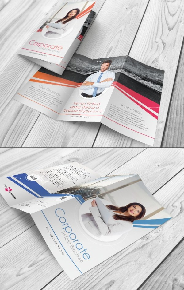 Free Tri-Fold Corporate Brochure Template